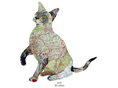 """Purrr"" map collage by Peter Clark, 2012"