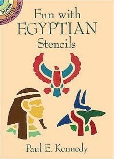 Fun with Egyptian Stencils - Aprèn a fer interessants motius egipcis amb la tècnica del stencil.