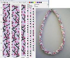 ru / Photo # 106 – Patterns of bead harnesses – lissabon - Crochet Bracelet Pattern, Crochet Beaded Bracelets, Bead Crochet Patterns, Bead Crochet Rope, Bead Loom Bracelets, Beaded Bracelet Patterns, Jewelry Patterns, Beading Patterns, Bead Loom Patterns