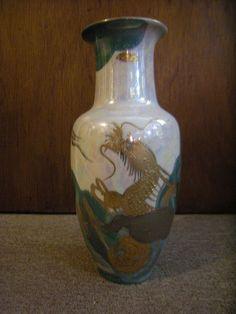 AITO China Hand Painted Japan 18k Gold Dragon Porcelain Vase Green and White MCI , on eBay. Bid or buy it now. #JapanesePorcelain #Dragon #Dragons #AitoChina #MCIJapan #Gold #Vase #Vases #JapaneseVases #Vintage