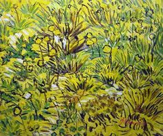 Vincent Van Gogh - Field Of Yellow Flowers - Oil Paintings on Canvas