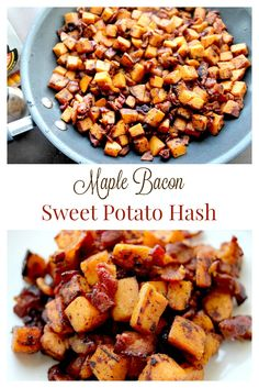 This Maple Bacon Sweet Potato Hash is so good you won't want to share it! Does great as a side at breakfast or dinner and is super easy to make too!