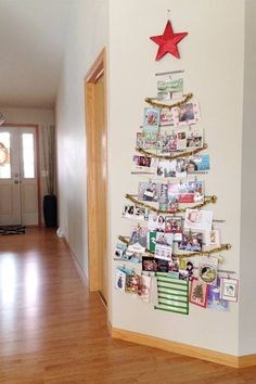 Wall decoration w/ Xmas Cards