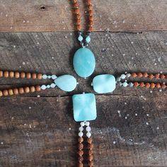 Amazonite. http://shop.lovetinydevotions.com #quotes #yoga #heart #love #inspiration #wisdom #positive #mala #beads #malabeads #tinydevotions #tiny #devotions #cute #bohemian #freespirit #jewelry #silver #gold #accessories #fall #trend #fashion