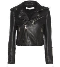 ¡Cómpralo ya!. Cropped Leather Biker Jacket. Cropped Black Leather Biker Jacket By Victoria Victoria Beckham , chaquetadecuero, polipiel, biker, ante, anteflecos, pielflecos, polipielflecos, antelina, chupa, decuero, leather, suede, suedette, fauxleather, tassel. Chaqueta de cuero  de mujer color negro de Victoria Victoria Beckham.