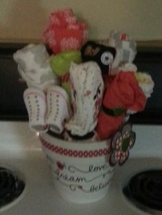 Ladybugs baby clothes flower bouquet!
