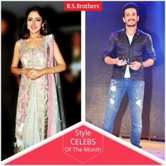 "‪#‎StyleCelebsOfTheMonth‬ Hey Folks, this week Tollywood celebritie's ‪#‎AkkineniAkhil‬ and  ‪#‎SayeshaSaigal‬ are dazzled in Trendy Fashions Look for ""Akhil"" Movie Audio Launch. (Image copyrights belong to their respective owners)"
