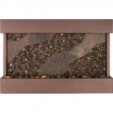 Medium Sycamore Springs Pebble Wall Fountain Copper Vein