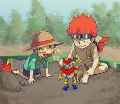 One Piece, Luffy, Eustass Kid One Piece Meme, Anime One Piece, One Piece Funny, One Piece Comic, One Piece Fanart, Me Anime, Fanarts Anime, Anime Manga, One Piece Pictures