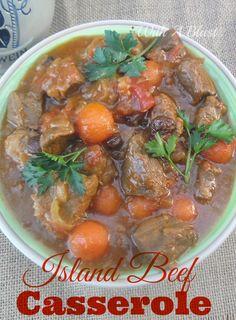 Island Beef Casserole ~ Hearty, delicious casserole for a Winter's day #Casserole #BeefCasserole #WinterDish