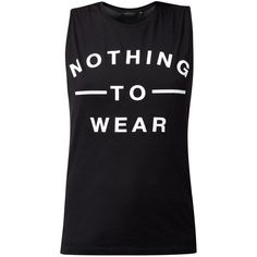 Black Nothing To Wear Print Tank Top ($6.18) ❤ liked on Polyvore featuring tops, shirts, tank tops, t-shirts, sleeveless tops, no sleeve shirts, black sleeveless top, sleeve less shirts and sleeveless tank tops