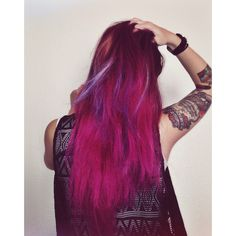 Pink purple blue lavender hair