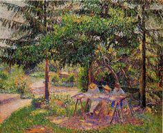 Camille Pissarro, The Children in a Garden at Eragny, 1897