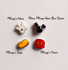 Need more charms? Look no further!  Handmade plastic floating charms, blank on the flip side. Charms measure approximately:  5mm Mickey Shoe 6mm
