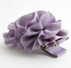Handmade Ruffle Wave Flower 3 Prong Hair Clip Accessories  #Handmade #Clips #hairclip