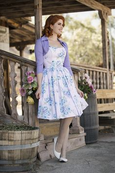 a44ba949f13 Pinup Couture Jenny Dress in Blue Rose
