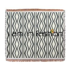 Fashion Cream Grey Woven Blanket #pattern $69.99