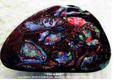 TEN A4 SIZE POSTER OF TOP KORIOT STONE 'PICASSO' opal posters , opals, Australian opals