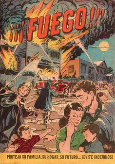 El Servicio de Bomberos de Puerto Rico publicó en 1960 un cómic educativo en torno de cómo prevenir y atender un incendio. Al principio del cómic, a modo de preámbulo, se presenta una breve historia del Servicio de Bombero en Puerto Rico. Ismael Rodríguez Báez estuvo a cargo del arte, los colores, las letras y el montaje.