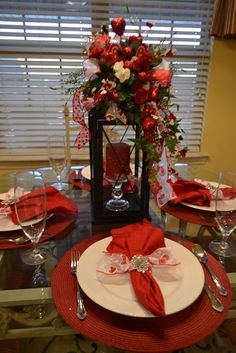 Beautiful Valentine's Day Table Settings Elegant And . Express Your Love In A Creative Way With Valentine Crafts . Home and Family Valentines Decoration, Valentine Wreath, Valentines Diy, Valentine Table Decor, Saint Valentine, White Centerpiece, Table Centerpieces, Red Candles, Christmas Table Settings