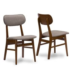 Baxton Studio Sacramento Dining Chair - Set of 2 - RT337-CHR-2PC