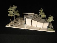 Maquette 03 by Sisomvang Collage Architecture, Maquette Architecture, Landscape Architecture Model, Architecture Model Making, Landscape Model, Architecture Concept Drawings, Landscape Design, Architecture Design, Model Tree