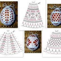 Christmas Crochet Patterns - Beautiful Crochet Patterns and Knitting Patterns Easter Egg Pattern, Crochet Birds, Christmas Crochet Patterns, Crochet Snowflakes, Thread Crochet, Crochet Flowers, Crochet Diagram, Crochet Motif, Hand Embroidery Videos