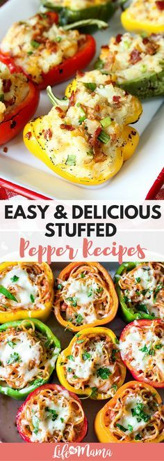 Whether youre a mea Whether youre a meat eater or vegetarian an adventurous foodie or a comfort food gal theres a stuffed bell pepper recipe for you. Keep reading to see a handful of simple and delicious stuffed pepper recipes. Recipe : ift.tt/1hGiZgA And My Pinteresting Life | Recipes, Desserts, DIY, Healthy snacks, Cooking tips, Clean eating, ,home dec  ift.tt/2v8iUYW