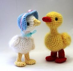 Knitting Patterns Animals Crochet duck and goose Amigurumi Patterns, Knitting Patterns, Crochet Patterns, Crochet Gifts, Knit Crochet, Easter Crochet, Knitting Projects, Diy And Crafts, Dinosaur Stuffed Animal