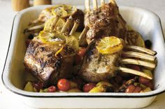 Dont spend hours in the kitchen today - you can have this gorgeous rack of lamb with crispy potatoes on the table in less than an hour!