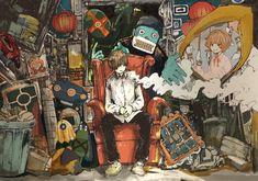 Eve Singer, Manga Art, Anime Art, Eve Music, Hot Anime Boy, Anime Kunst, Dark Anime, Japan Art, Cool Artwork