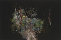 Paul Williams, Trail, 2008, 52.5cm x 34cm, oil on board