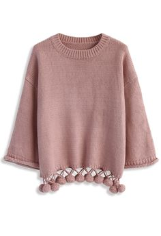 Bouncing Fun Sweater in Pink - New Arrivals - Retro, Indie and Unique Fashion