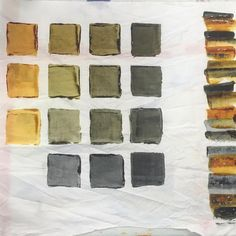 Procion MX Dyes Colour Matrix: Ochre to Grey