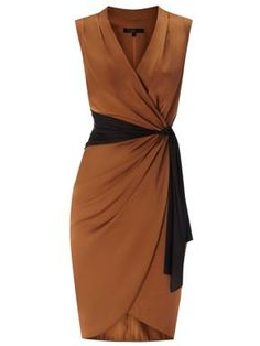 Coast Lavinia Dress Caramel - House of Fraser