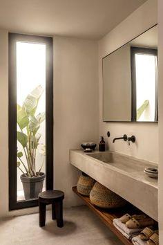Modern Bathroom Design, Bathroom Interior Design, Bathroom Designs, Contemporary Bathrooms, Interior Modern, Bath Design, Kitchen Interior, Balinese Interior, Kitchen Design