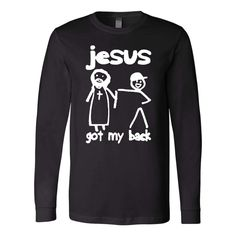 Christian long sleeve t shirts-christian gift idea-This Jesus got my back christian long sleeve t-shirt makes a perfect christian gifts. Bible Verses About Strength, Bible Verses About Love, Quotes About Hard Times, Quotes About God, Prayer Quotes, Bible Verses Quotes, Bible Verses For Depression, Prayer For Guidance, Jesus Christ Quotes
