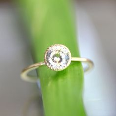 Portuguese Cut Champagne Sapphire In 14K Yellow Gold Engagement Ring - Ready To Ship