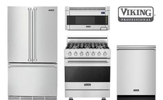 Viking Stainless Counter Depth French Door Refrigerator With Gas Range