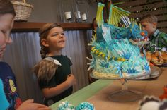 Astrid and her Stormfly cake