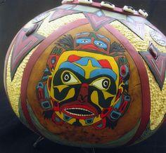 The Bear Story 2 by Ann Himelstieb - gourd art