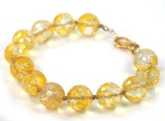 Citrine Bracelet with Gold Filled Fancy Lobster Clasp