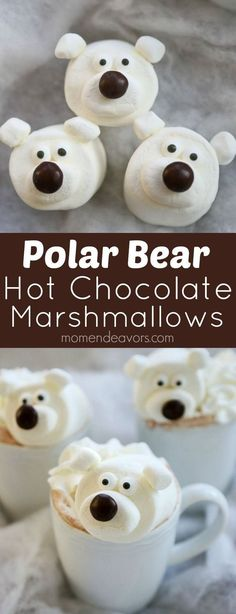 Kids will LOVE polar bear hot chocolate!!! So fun & easy to make!!!: