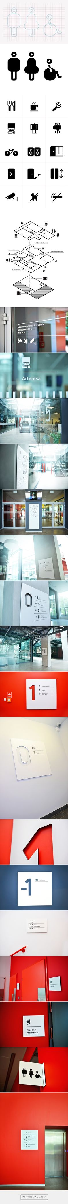 Wayfinding system - cultural and commercial passage on Behance Library Signage, Signage Display, Signage Design, Map Design, Display Design, Icon Design, Directional Signage, Wayfinding Signs, Environmental Graphic Design