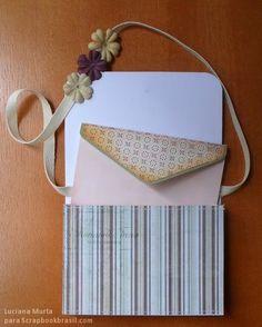 PAP mini pasta-carteiro e cartão-envelope – PARTE I | Luciana Murta