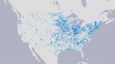 Infographic of the Day: Who the Broadband Revolution Left Behind Map Infographics, Revolution, Internet