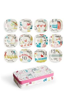 12 Days Appetizer Plates - Set of 12 by Rosanna on @HauteLook