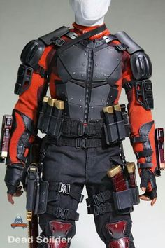 Art Figures Dead Soldier Deadshot Padded Belt and Pistol Mag Holsters Set Weapon Concept Art, Armor Concept, Ninja Weapons, Ninja Armor, Ninja Gear, Armadura Cosplay, Tactical Armor, Combat Armor, Armor Clothing