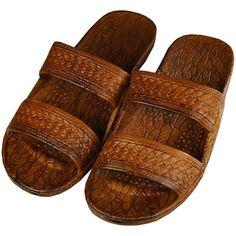 Hawaiian Jesus Sandal ($8.99) ❤ liked on Polyvore featuring shoes, sandals, hawaiian shoes, hawaiian print shoes and hawaiian sandals