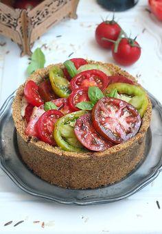 Délices d'Orient: Tarte en croûte de riz à la tomates, ricotta et ch...